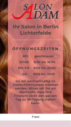 Vorschau der mobilen Webseite www.salon-adam.de, Salon-Adam