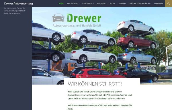Vorschau von www.drewer-autoverwertung.de, Drewer Autoverwertung- u. Handelsgesellschaft mbH