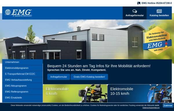 Vorschau von www.emg-elektromobile.de, EMG Elektromobile GmbH & Co. KG
