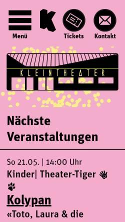 Vorschau der mobilen Webseite www.kleintheater.ch, Kleintheater