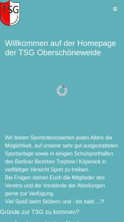 Vorschau der mobilen Webseite www.tsg-oberschoenewei.de, TSG Oberschöneweide, Abteilung Schach