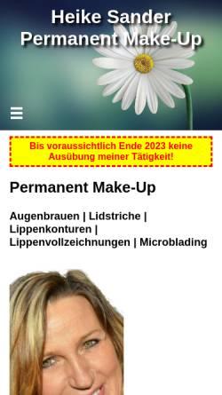 Vorschau der mobilen Webseite heikesander.de, Heike Sander