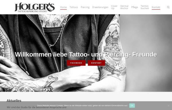 Vorschau von www.holgers-studio.de, Holger's Tattoo und Piercing-Studio, Holger Byl
