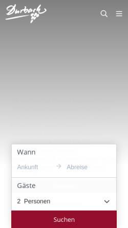 Vorschau der mobilen Webseite www.durbach.de, Durbach