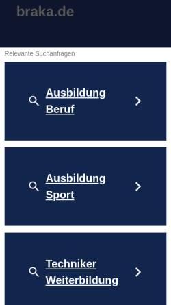 Vorschau der mobilen Webseite www.braka.de, Braka Sportinstitut
