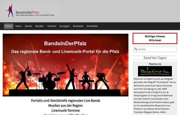 Vorschau von www.bandsinderpfalz.de, Bands in der Pfalz