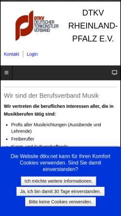 Vorschau der mobilen Webseite www.dtkv-rlp.de, DTKV - Landesverband Rheinland-Pfalz e.V.