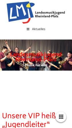 Vorschau der mobilen Webseite www.lmj-rlp.de, Landesmusikjugend Rheinland-Pfalz