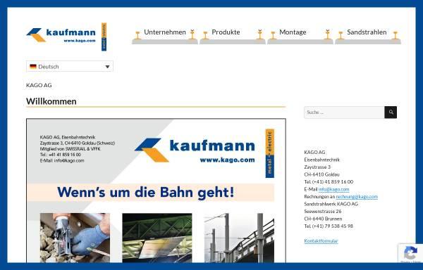 Vorschau von www.kago.com, A. Kaufmann AG