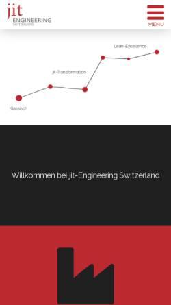 Vorschau der mobilen Webseite www.jit-engineering.ch, Jit Engineering GmbH