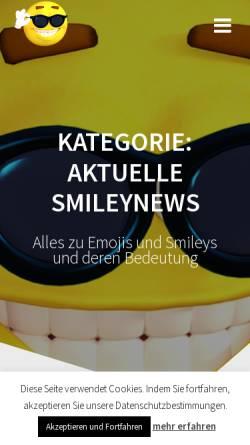 Vorschau der mobilen Webseite www.smileyparadies.de, Smileyparadies.de