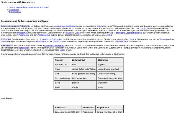 Vorschau von www.philolex.de, Stoiker und Epikureer