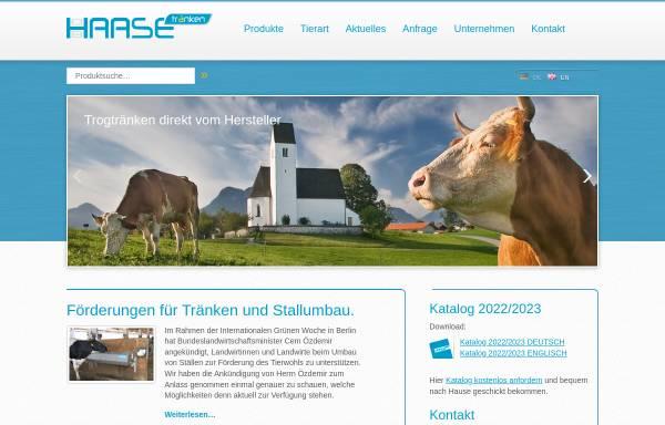Vorschau von www.haase-traenken.de, Oswin Haase Nachf.