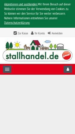 Vorschau der mobilen Webseite www.stallhandel.de, Stallhandel.de