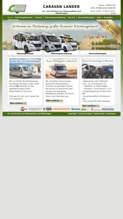 Vorschau der mobilen Webseite www.caravan-lander.de, Caravan Lander