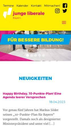 Vorschau der mobilen Webseite www.julis-bayern.de, JuLis - Junge Liberale Bayern