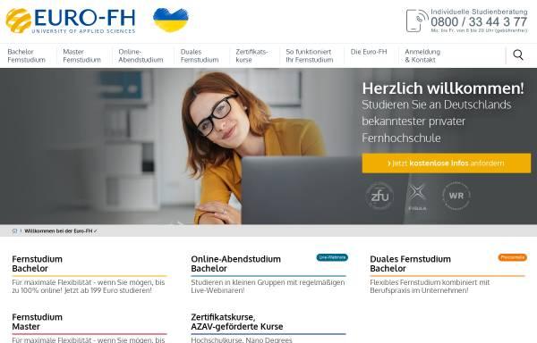 Vorschau von www.euro-fh.de, Europäische Fernhochschule Hamburg