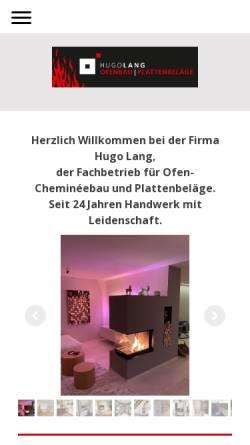 Vorschau der mobilen Webseite www.hugolang.ch, Hugo Lang GmbH
