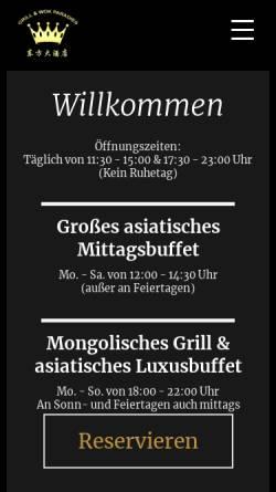 Vorschau der mobilen Webseite www.grill-wok-paradies.de, Grill und Wok Paradies