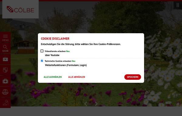 Vorschau von www.coelbe.de, Gemeinde Cölbe