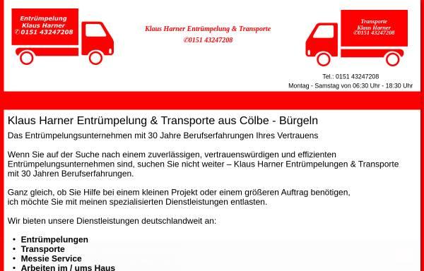 Vorschau von www.umzug-harner.de, Spedition Klaus Harner