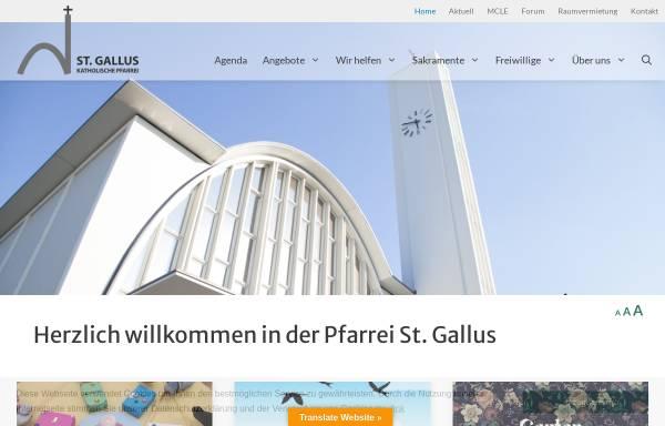 Vorschau von www.sanktgallus.ch, Pfarrei St. Gallus