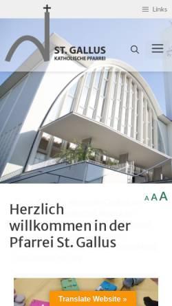 Vorschau der mobilen Webseite www.sanktgallus.ch, Pfarrei St. Gallus