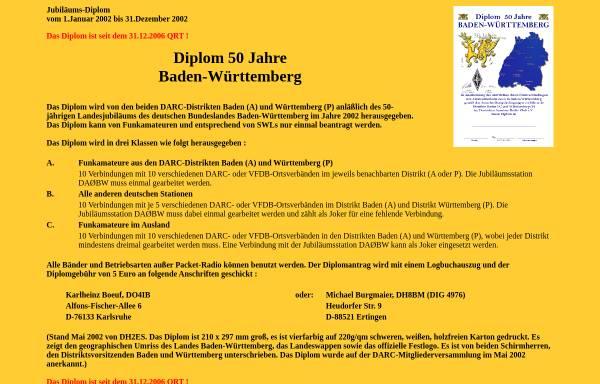 Vorschau von bw50.dh8bm.de, 50 Jahre Baden-Württemberg