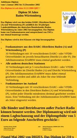 Vorschau der mobilen Webseite bw50.dh8bm.de, 50 Jahre Baden-Württemberg