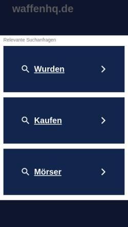 Vorschau der mobilen Webseite www.waffenhq.de, WaffenHQ.de
