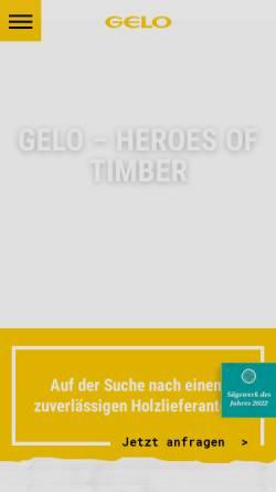 Vorschau der mobilen Webseite www.gelo.de, Gelo Holzwerke GmbH