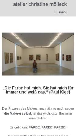 Vorschau der mobilen Webseite www.atelier-moelleck.de, Atelier Mölleck