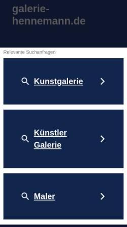 Vorschau der mobilen Webseite www.galerie-hennemann.de, Galerie Marianne Hennemann