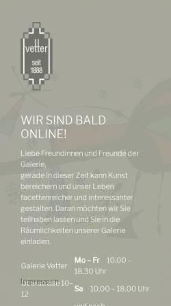 Vorschau der mobilen Webseite www.galerie-vetter.de, Galerie Vetter