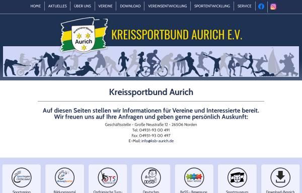 Vorschau von ksb-aurich.de, Kreissportbund Aurich e.V.
