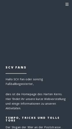 Vorschau der mobilen Webseite www.scv-fans.de, Fanclub des SC Verl - Der Harte Kern