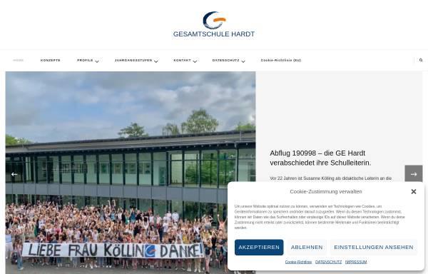 Vorschau von www.gesamtschule-hardt.de, Gesamtschule Hardt