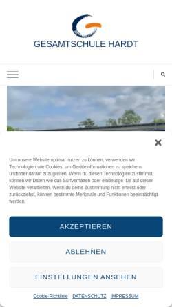 Vorschau der mobilen Webseite www.gesamtschule-hardt.de, Gesamtschule Hardt