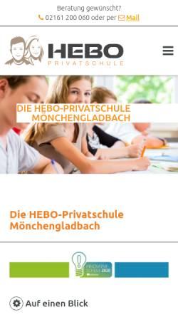 Vorschau der mobilen Webseite hebo-privatschule.de, Hebo Privatschule