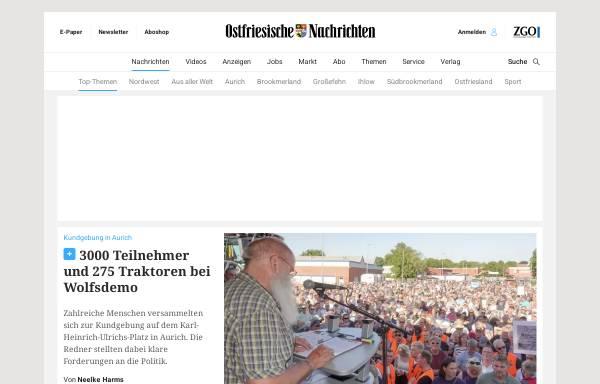 Vorschau von www.on-online.de, Ostfriesische Nachrichten Aurich