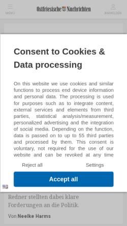 Vorschau der mobilen Webseite www.on-online.de, Ostfriesische Nachrichten Aurich