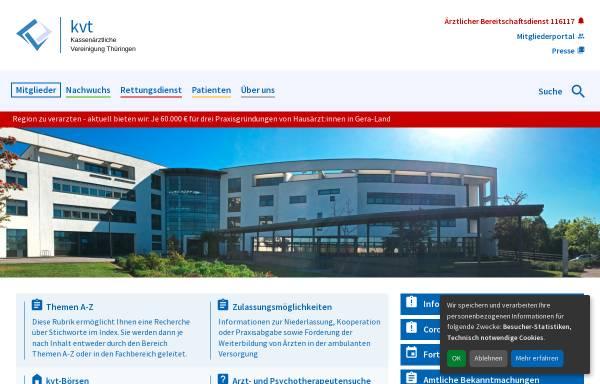 Vorschau von www.kv-thueringen.de, Kassenärztliche Vereinigung Thüringen