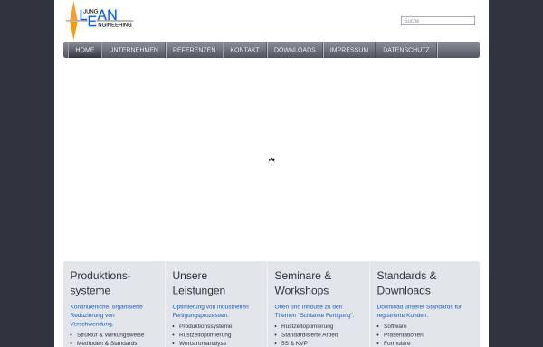 Vorschau von www.lean-engineering.de, Jung-Lean-Engineering, Inh. Dipl.-Ing. Jürgen Jung