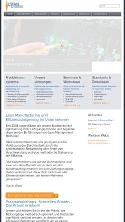 Vorschau der mobilen Webseite www.lean-engineering.de, Jung-Lean-Engineering, Inh. Dipl.-Ing. Jürgen Jung