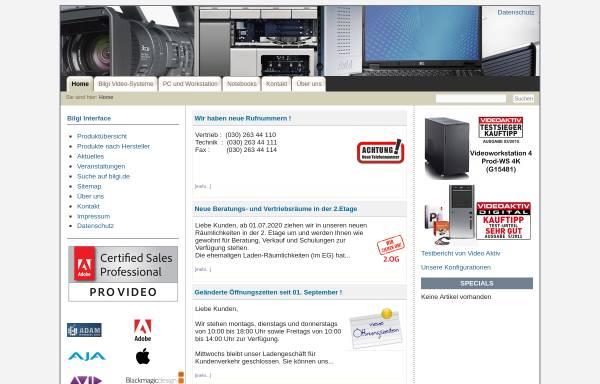 Vorschau von www.bilgi.de, Bilgi Interface GmbH