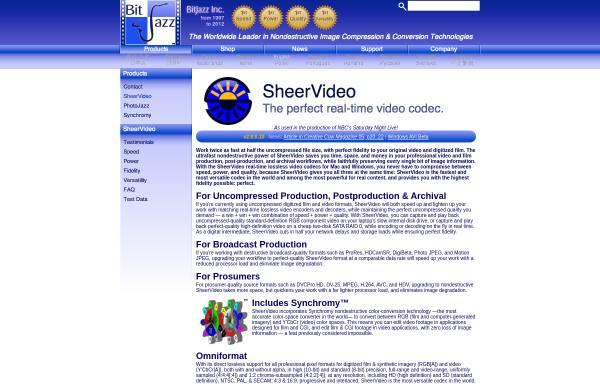Vorschau von www.bitjazz.com, BitJazz Inc. - SheerVideo