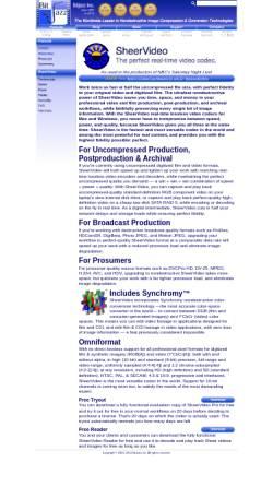 Vorschau der mobilen Webseite www.bitjazz.com, BitJazz Inc. - SheerVideo