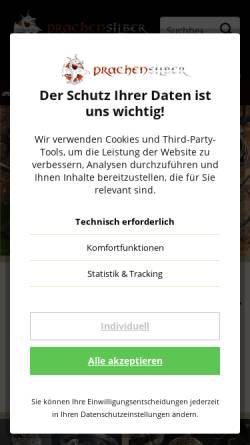Vorschau der mobilen Webseite www.drachensilber.de, Drachensilber, Kerstin Weber