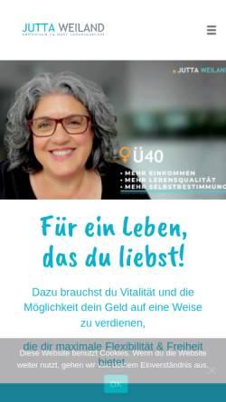 Vorschau der mobilen Webseite jutta-weiland.de, Jutta Weiland