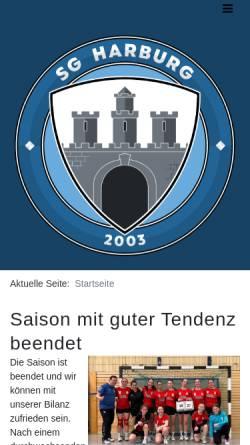 Vorschau der mobilen Webseite www.sgharburg.de, SG Harburg